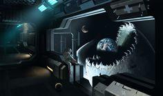 Last Ship ... aka...World Eater by DominikWysocki | Sci-Fi | 2D | CGSociety