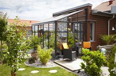 Muralväxthus från Willab Garden. Perfekt för den lilla tomten och radhuset.