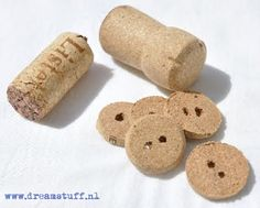 Cork buttons. Of course! Why didn't I think of that!