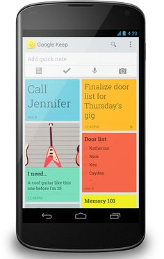Note-Taking Web & Android App 'Google Keep' Launched http://Mobile1stChoice.com #Mobile1stChoice