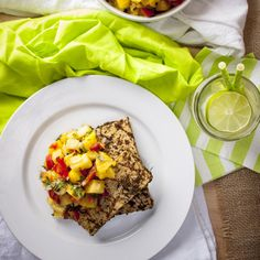 This spicy, refreshing grilled jerk tofu with pineapple salsa is vegan ...