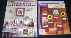 Plastic Canvas Leaflets Get Well Flowers & Roses In Bloom - Sunflower Tulip Iris