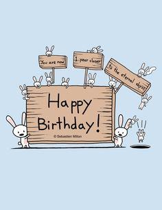 Comic Happy Birthday Images