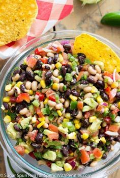 A fresh, simple dip that can be thrown together in under 15 minutes! This Cowboy Caviar makes a great side dish for any picnic, potluck, or party, and is a great way to use up your summer produce! Pasta Salad Recipes, Dip Recipes, Appetizer Recipes, Vegan Recipes, Cooking Recipes, Meat Appetizers, Potluck Recipes, Yummy Recipes, Recipies