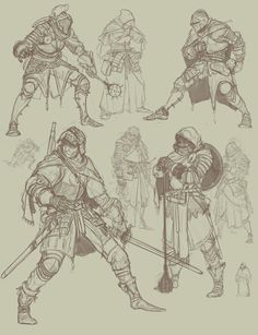 Some knight sketches by TimofeyStepanov on DeviantArt