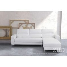 Versa Leather Sectional, Multiple Colors