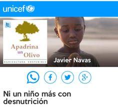 Un reto de #ApadrinaUnOlivo para @unicef_es porque #ahoraNOpodemosparar de salvar vidas. ¿Te sumas?   https://t.co/qtSMw1ZECk