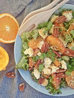 Ruokakonttuuri: Persimmon Dukkah Salad