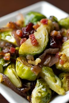 Roasted Cider-Glazed Brussels with Crispy Pancetta