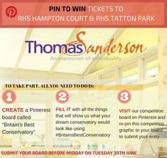 Pin your favourite items, and you could win free tickets to RHS Hampton Court and Tatton Park shows