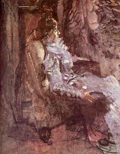 Дама в лиловом. Портрет Надежды Ивановны Забелы-Врубель