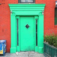 mint-colored-door-in-new-york-city