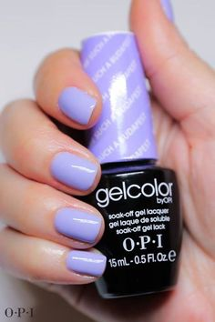 The advantage of the gel is that it allows you to enjoy your French manicure for a long time. There are four different ways to make a French manicure on gel nails. Opi Gel Nails, Opi Gel Polish, Gel Polish Colors, Best Nail Polish, Acrylic Nails, Purple Gel Nails, Opi Gel Nail Colors, Light Purple Nails, Red Nail