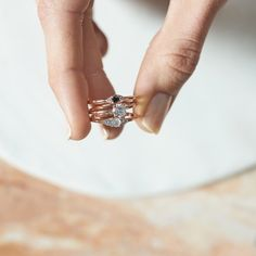Dear Rae | Fancy Pants Diamond Ring Collection  #DearRae #DearRaeJewellery #DiamondRings #ColourDiamonds #EngagementRings #BlackDiamond #WhiteDiamond #TrilogyRing