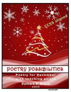 POETRY UNIT: December Poetry Activities, Poetry Elements and Analysis, Writing Ferien- und Saisonpoe Christmas Card Template, Christmas Greeting Cards, Christmas Greetings, Red Christmas Background, Christmas Wallpaper, Red Background, Christmas Music, Christmas Time, Christmas Ornaments