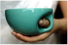 Umm thumb hole built into the mug? Yes please!
