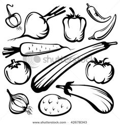 drawing vegetables - Google Search