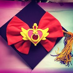 Sailor Moon Mortar Board Graduation Cap Design- I've got to send this to Jess later on :)