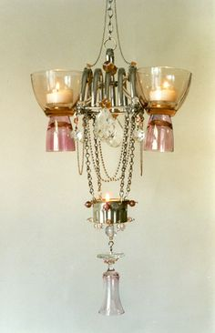 Chandelier by Madeleine Boulesteix Shabby, Wall Lights, Ceiling Lights, Let Your Light Shine, Bling, Lighting Store, Modern Chandelier, Lamp Shades, Creative Inspiration