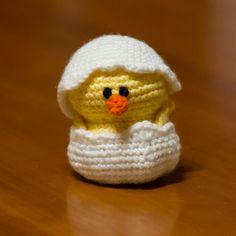 daisy the baby chick, crochet