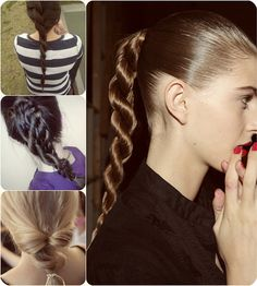 rope hair into a ponytail by clip on hair extensions