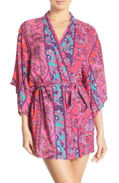 Kick back and relax in this silky printed robe, found at the Anniversary Sale! It's too cute to pass up.
