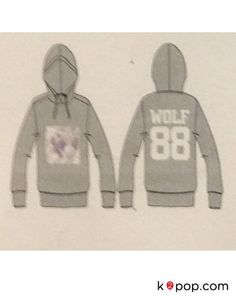 K2POP - SMTOWN POP-UP STORE EXO OFFICIAL GOODS - 'WOLF 88' HOODIE ( NEW COLOR ADD )
