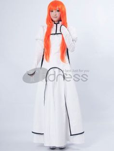 Bleach Cosplay / Bleach Inoue Orihime Cotton Polyester Cosplay Costume / http://www.thdress.com/Bleach-Inoue-Orihime-Cotton-Polyester-Cosplay-Costume-p1830.html