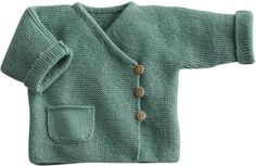 Love this style sweater! Blij dat ik brei: Baby-vestje, link to pattern (in Dutch) below on Telegraaf website Knitting For Kids, Baby Knitting Patterns, Baby Patterns, Knitting Yarn, Knit Baby Sweaters, Knitted Baby Clothes, Baby Vest, Baby Cardigan, Crochet Baby