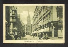 Ak Königsberg (Kaliningrad) - Junkerstraße mit Geschäften 1911 • EUR 9,00