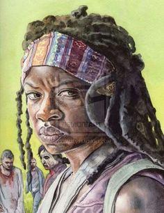 Michonne & Walkers TWD