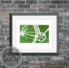 bicycle bike art print - MORE COLORS AVAILABLE bicycle wall art home decor nursery childrens art