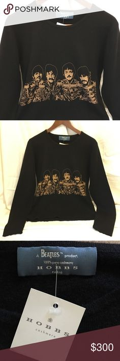 "NWT. HOBBS Cashmere ""a Beatles product"" 100% Cashmere. Size Small can fit a Medium as well. No trades. Price firm unless bundled. HOBBS Sweaters Crew & Scoop Necks"