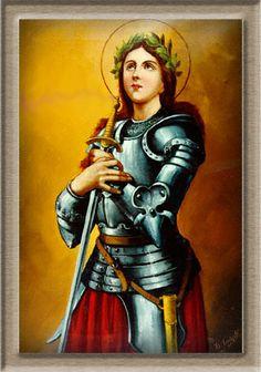 st joan of arc large. Joan D Arc, Saint Joan Of Arc, St Joan, Catholic Saints, Roman Catholic, Catholic Prayers, Saint Tattoo, Female Armor, St Margaret