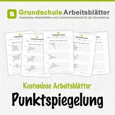 Kostenlose Arbeitsblätter und Unterrichtsmaterial zum Thema Punktspiegelung im Mathe-Unterricht in der Grundschule.