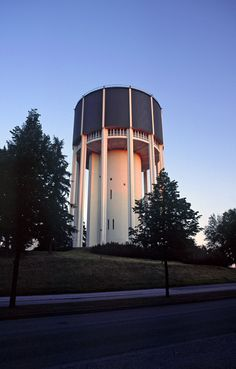 Water tower in Lappeenranta,  Finland - photo by  laurentgaudart, via FlickeFlu