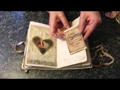 Christmas Vintage style journal no 4 - YouTube