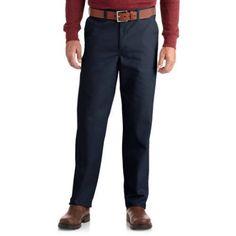 Genuine Dickies Men's Flat-Front Comfort Waist Pants, Size: 30 x 32, Blue