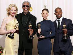 2005 Academy Award Winners: Cate Blanchett, Morgan Freeman, Hilary Swank, Jamie Fox