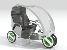 The Antidote cycle-rickshaw has been designed for elderly people to keep them fit and healthy.