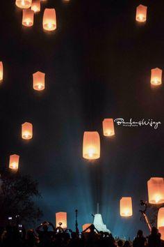 The Lantern Party at Vesak Celebration at Borobudur Temple #vesak #Waisak