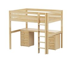 ^^Read information on white wooden bunk beds with stairs. Click the link for more****** Viewing the website is worth your time. Cool Bunk Beds, Bunk Beds With Stairs, Kid Beds, Bunk Bed With Desk, Loft Beds, Bed Furniture, Cheap Furniture, Furniture Market, Furniture Stores