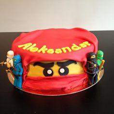 Ninjago Cake: Chocolate cake, with a Dark Chocolate Ganache and Apricot filling, Chocolate Buttercream.  Fondant finish, Fondant sculpted Ninjagos.