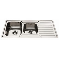 Squareline 1080 Kitchen Sink with 1 & 3/4 bowl and drainer