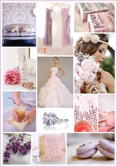 Romantic lavender and blush pink inspired by beautiful flowers.
