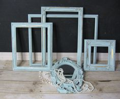 Beach Cottage Frame Collection. Sea Side Blue
