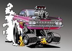 Drawing On Demand - Secrets To Explode Your Drawing Creativity Cartoon Car Drawing, Cartoon Rat, Cartoon Faces, Ed Roth Art, Car Part Art, Cool Car Drawings, Cars Coloring Pages, Truck Art, Garage Art