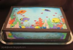Aquarium cake by Cakes by Pixie Pie, via Flickr
