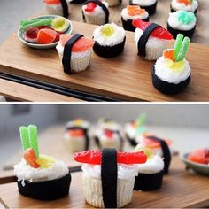 Sushi cupcakes Tag your friends