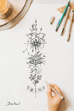 Dot Tattoos, Line Art Tattoos, Tatoos, Fire Tattoo, Arm Band Tattoo, Tattoo Back, Simplistic Tattoos, Unique Tattoos, Tiny Tattoos For Girls